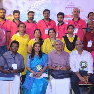 Panchayat Day Celebration-IKM Executive Director with Thrissur Team
